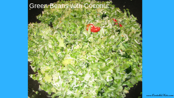 Green Beans, Ketogenic recipe, vegetable recipe, Indian cuisine, Low carb diet